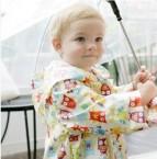 兒童雨衣 白色猫頭鷹