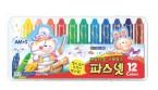 韓國 AMOS 蠟筆、粉彩、水彩 3合1顏色筆 (12色)