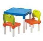 KEYWAY兒童桌椅組(橙藍綠)
